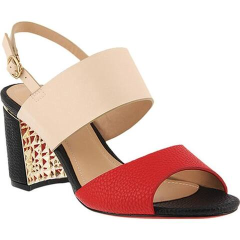 3cdb31891992 Azura Women s Olgica Colorblock Sandal Light Beige Multi Synthetic