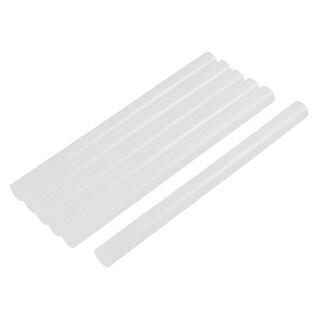 Translucence Soldering Iron Hot Melt Glue Sticks 11mm x 150mm 6 Pcs
