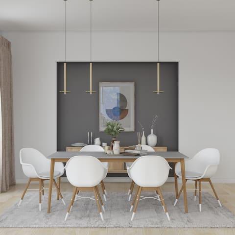 Midtown Concept Brune 7pc Wood Indoor Dining Set