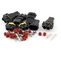 Unique Bargains Auto Car Electrical 2 Way Waterproof Connector Plug 5 Set