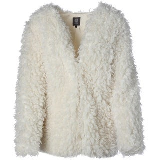 Vince Camuto Womens 70's Dream Curly Faux Fur Basic Jacket - m/l