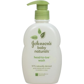 JOHNSON'S Natural Head-To-Toe Baby Wash 9 oz