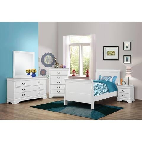 Barrow Traditional White 4-piece Bedroom Set