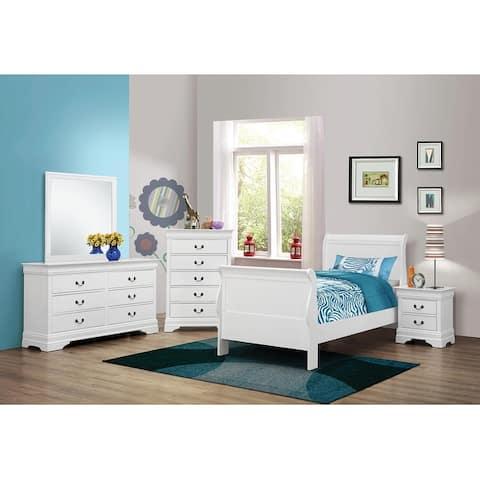 Barrow Traditional White 5-piece Bedroom Set