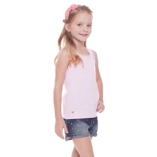 Pulla Bulla Toddler Girls' Tank Top Laced Classic Tee Shirt Sizes 2-4 Years