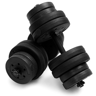 Link to Costway 66 LB Dumbbell Weight Set Fitness 16 Adjustable Plates Workout Similar Items in Fitness & Exercise Equipment