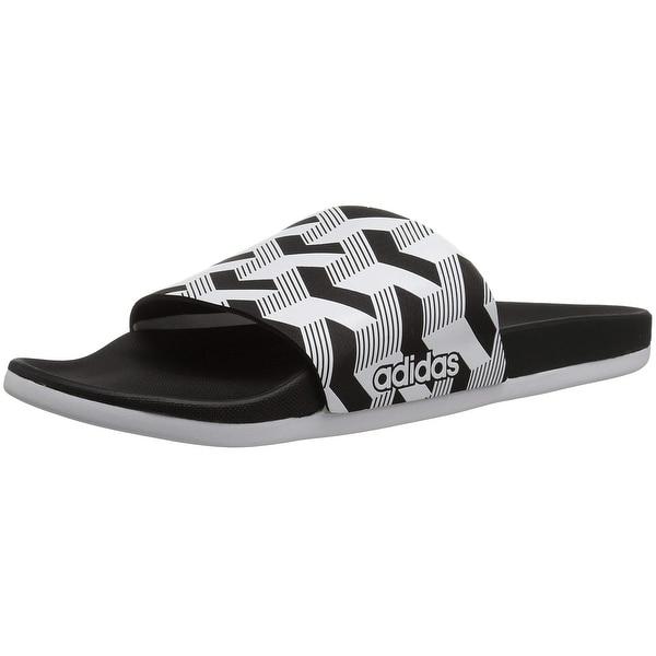 hot sale online 445d3 85fcb Adidas Men Adilette Cf+ Link Gr Slide Sandal, Core BlackWhiteCore Black