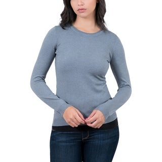 RC Cashmere Blend Grey Crewneck Womens Sweater