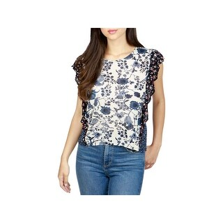 Lucky Brand Womens Casual Top Printed Sleeveless