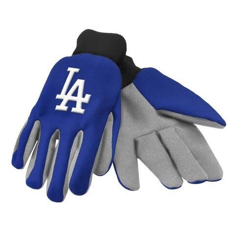 Officially MLB Utility Work Gloves Gardening With Team Logo Baseball LA Dodgers