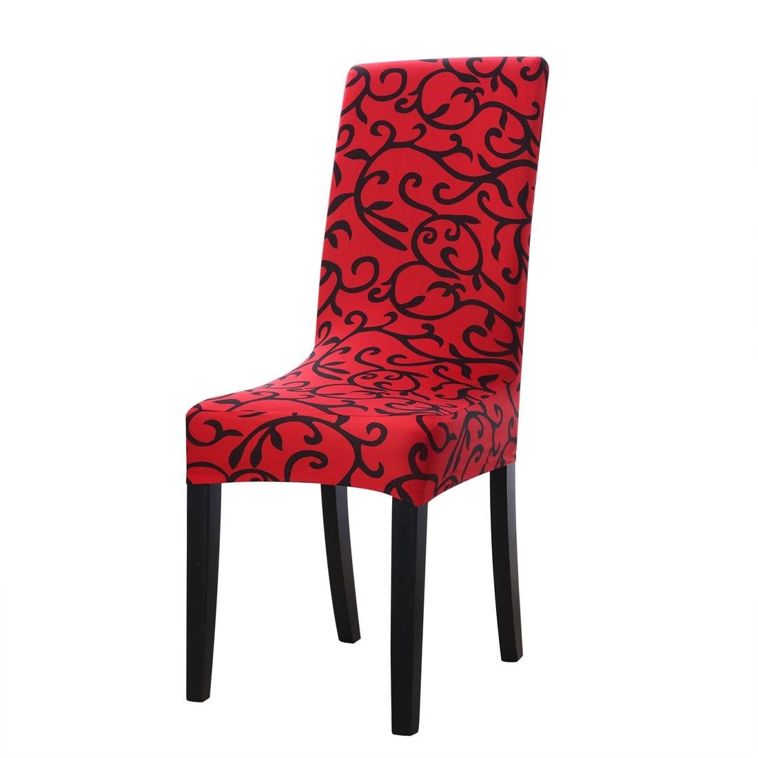 2pcs Elastic Short-back Chair Seat Covers Bar Stool Slipcovers Protector