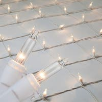 Wintergreen Lighting 15249 Mini 4' x 6' Net Holiday Lights with 150 Lamps and White Wire - n/a