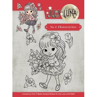 Find It Trading Lilly Luna Clear Stamps-Flowers To Love