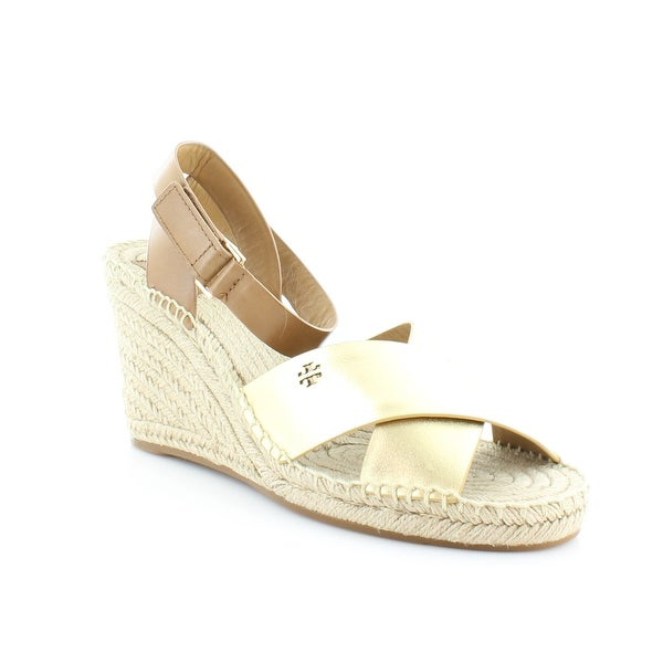 Tory Burch Bima Women's Sandals & Flip Flops Gold/Royal Tan - 10.5
