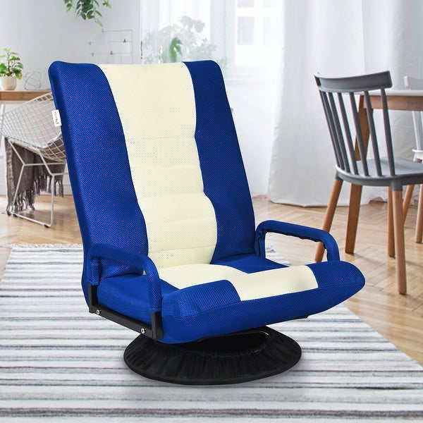 Swivel Gaming Chair Floor Chair 6 Positions Adjustable Backrest