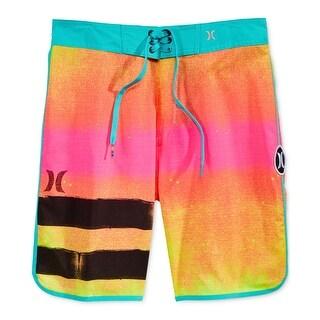 Hurley NEW Orange Blue Mens Size 36 Board Surf Drawstring Shorts