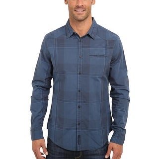 Calvin Klein Jeans Modern Fit Blue Plaid Shirt XX-Large