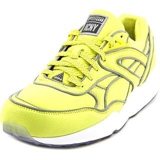 Puma Trinomic R698 x ICNY Men Round Toe Canvas Yellow Running Shoe