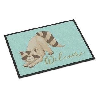 Carolines Treasures BB8560MAT Raccoon Welcome Indoor or Outdoor Mat - 18 x 27 in.