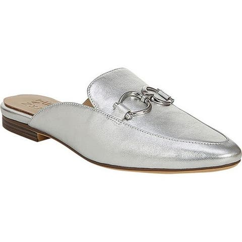 Naturalizer Women's Leanna Mule Silver Leather