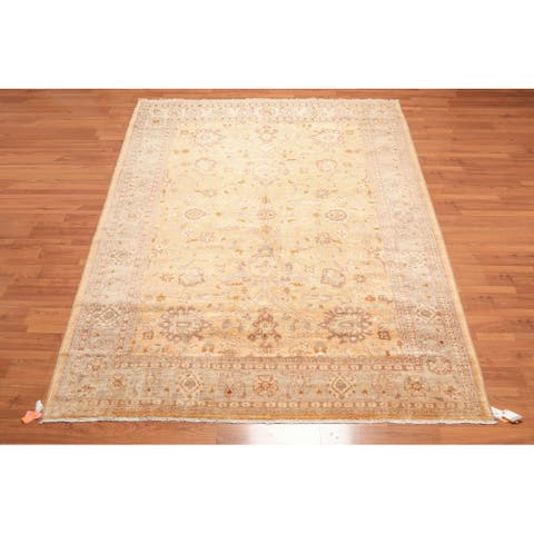 """Hand Knotted Peshawar Gold Wash Silky Sheen Oriental Area Rug (8'x11'6"""") - 8' x 11'6"""""""