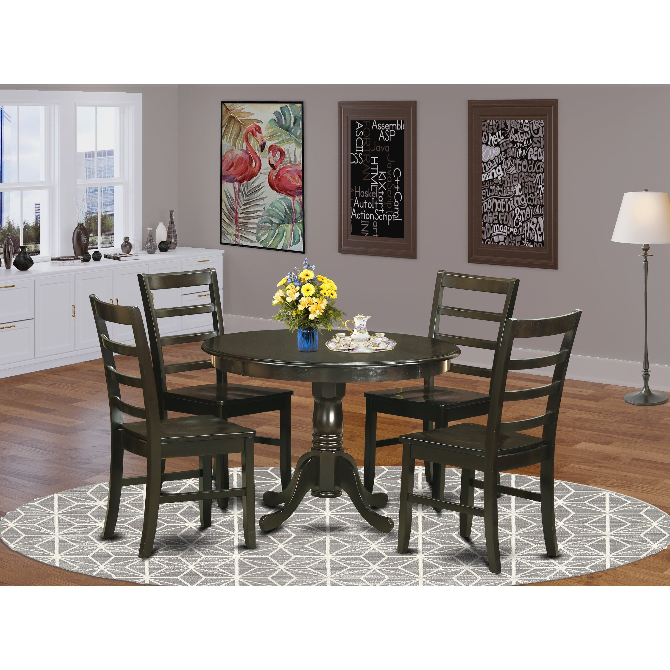 Hlpf5 Cap 5 Pc Small Kitchen Table Set Dining Table And 4 Chairs Overstock 17652199