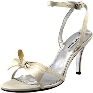 Nina Vianna Open Toe Canvas Sandals