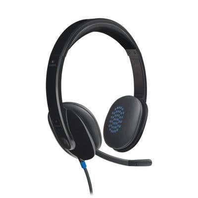 Logitech 981-000510 H540 Usb Wired Pc Headset For Internet Calls And Music