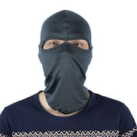 Motorcycle Two Holes Full Face Mask Neck Protecting Balaclava Cap Hat Dark Gray