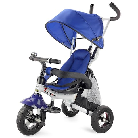 6-In-1 Kids Baby Stroller Tricycle Detachable Learning Toy Bike-Blue - Blue
