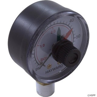 "Pressure Gauge, Hayward, 1/4""mpt, 0-60psi, Bottom Mount, w/Dial"