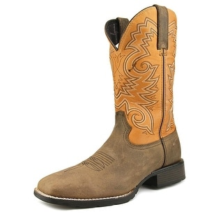 "Durango Mustang 12"" Western Men  Square Toe Leather Brown Western Boot"