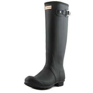 Hunter Original Back Adjust Round Toe Synthetic Rain Boot