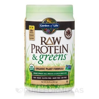 Garden of Life Raw Protein and Greens Chocolate 21.6 oz. (611 Grams)