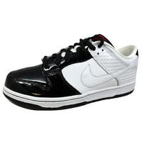 Nike Men's Dunk Low Premium White/White-Black 307696-113 Size 12