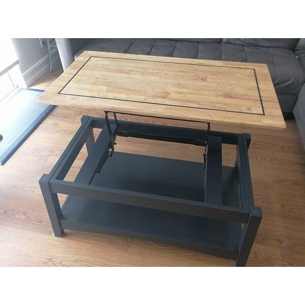 Unfinished Solid Parawood Ay Tall Lift Top Coffee Table Free Shipping Today 16555049