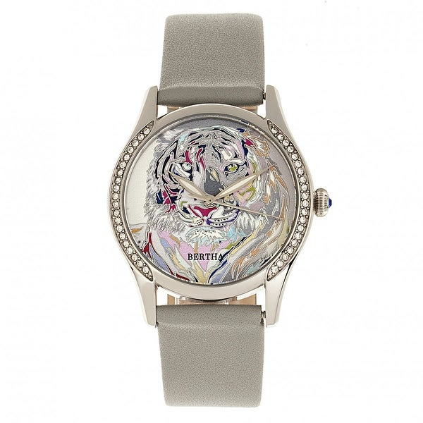 Bertha Annabelle Leather-Band Watch - Grey