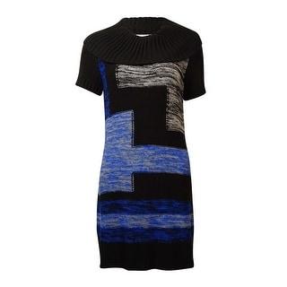 NY Collection Women's Knit Cowl Neck Sheath Dress