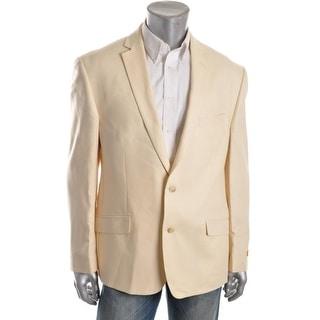 Tallia Mens Silk Blend Notch Collar Two-Button Suit Jacket - 42L