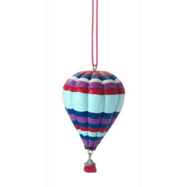 "3.5"" Novelty Colorful Striped Hot Air Balloon Christmas Ornament"
