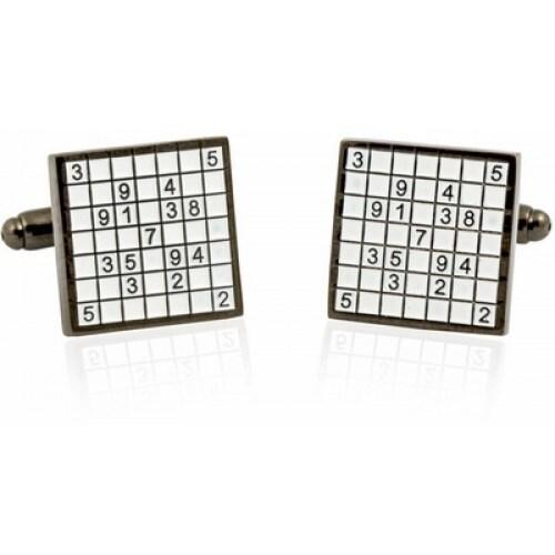 Sudoko Cufflinks Number Crossword Math Game
