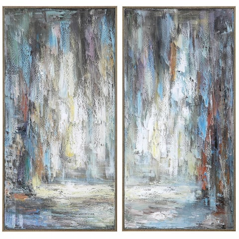 Uttermost 31327 Artist's Framed Abstract Paintings on Paper by Matthew Williams - Set of 2 - Blue