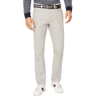 Tommy Hilfiger Custom Fit Navy Red Side Stripe Chino Pants Mens 36x34 New