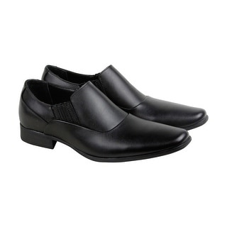 Calvin Klein Bartel Soft Mens Black Leather Casual Dress Oxfords Shoes