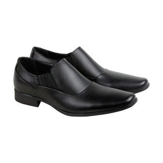 Calvin Klein Bartel Soft Leather Mens Black Leather Casual Dress Oxfords Shoes