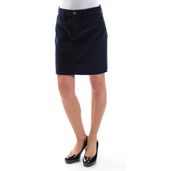 70a4ef6067ab Shop TOMMY HILFIGER Womens Navy Corduroy Mini Pencil Skirt Size  2XS - Free  Shipping On Orders Over  45 - Overstock - 21509080