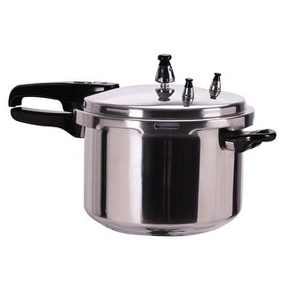 Costway 6-Quart Aluminum Pressure Cooker Fast Cooker Canner Pot Kitchen
