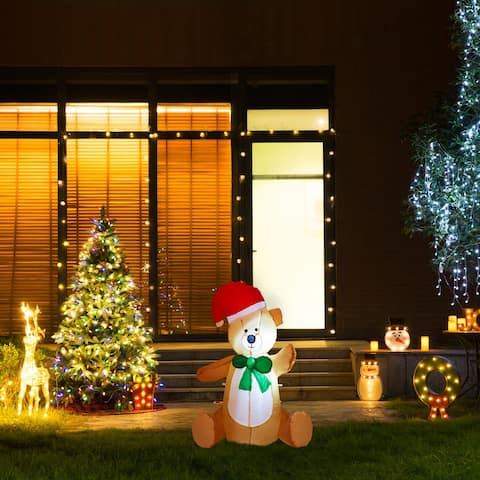 Glitzhome Christmas Lighted Inflatable Decor