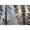 Statements2000 Silver 7 Panel Metal Wall Art Sculpture by Jon Allen - Hypnotic Sands - Thumbnail 6