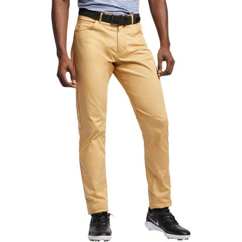 Nike Mens Pants Slim Fit Activewear - Tan